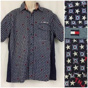 Tommy Hilfiger 4th of July Spell Out Shirt L